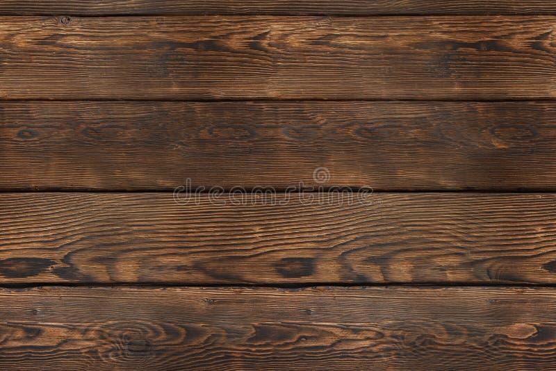 Alter hölzerner Plankehintergrund Nahtlose Beschaffenheit Hölzernes Muster des Weinlesebrauns, Draufsicht stockfoto