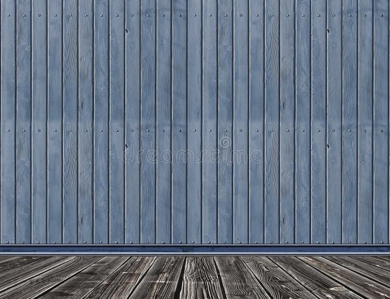 Alter hölzerner Raum, Weinlesehintergrund stockbild