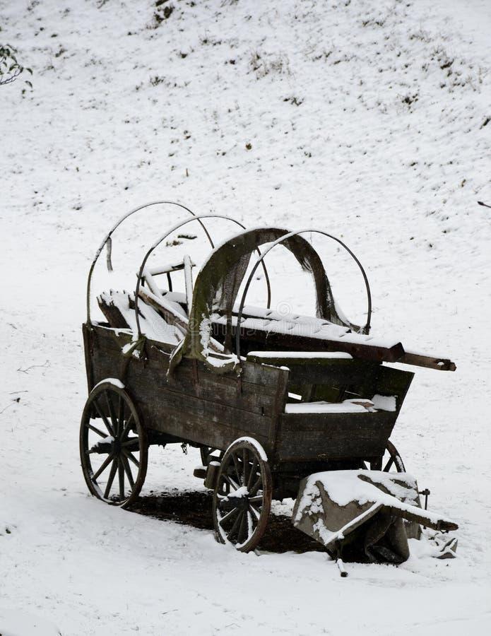 Alter hölzerner Stagecoach lizenzfreies stockfoto