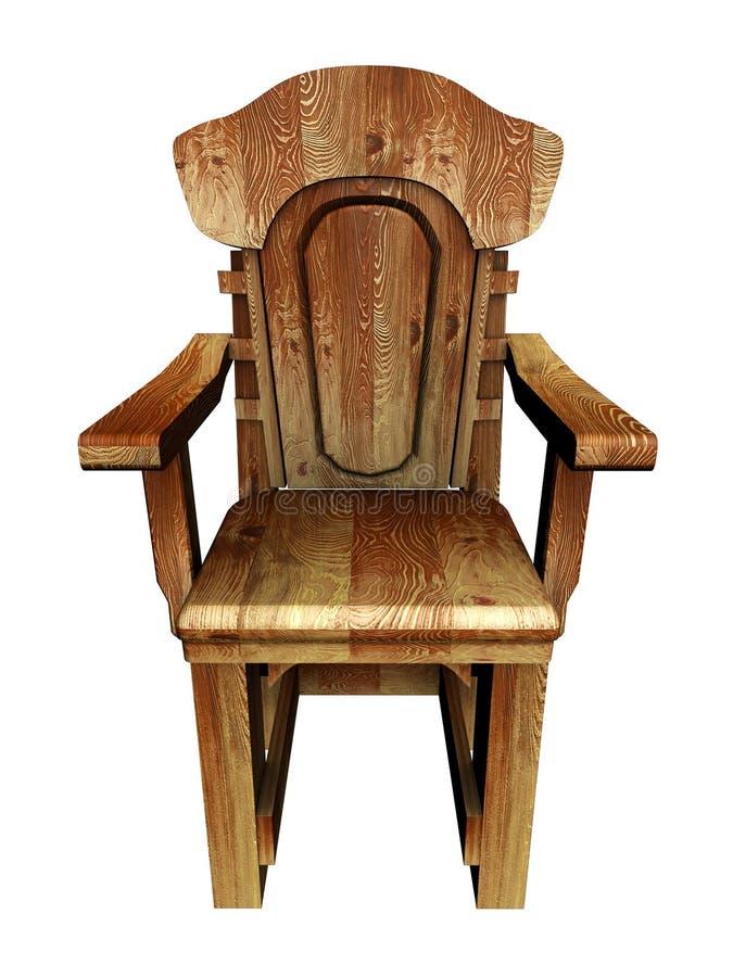 Alter hölzerner stilvoller Stuhl. stock abbildung