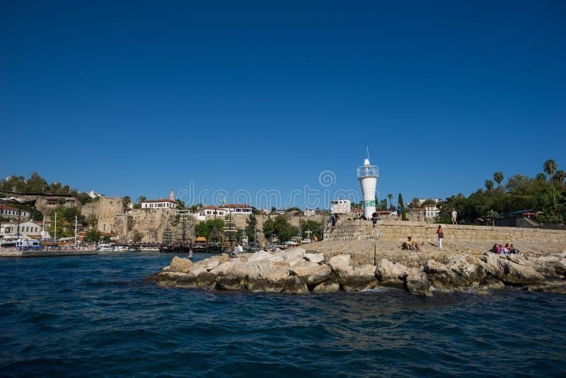 Alter Hafen in Antalya in der Türkei lizenzfreie stockfotografie