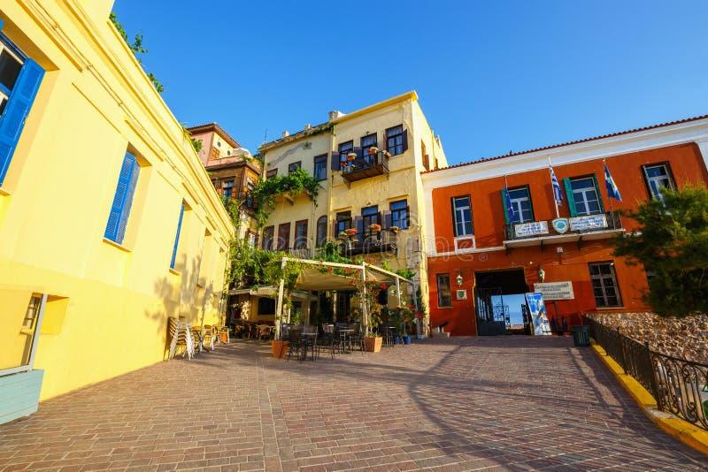 Alter Hafen in Chania, Griechenland lizenzfreie stockbilder