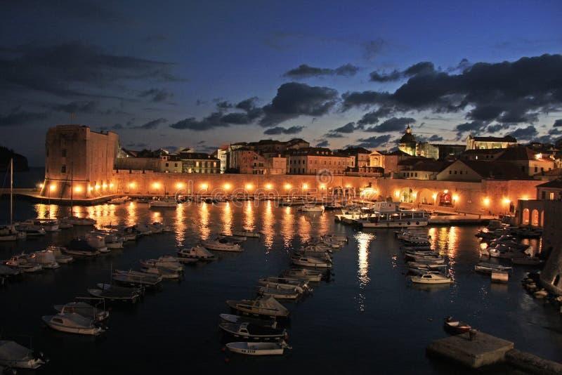 Alter Hafen in Dubrovnik, Kroatien stockfotos