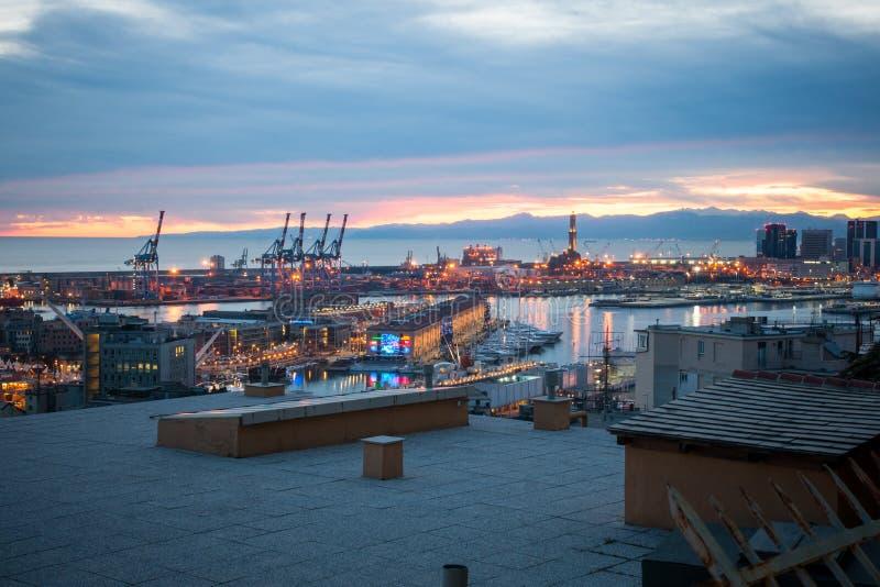 Alter Hafen, Genua stockfotografie