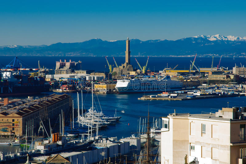 Alter Hafen, Genua stockfoto