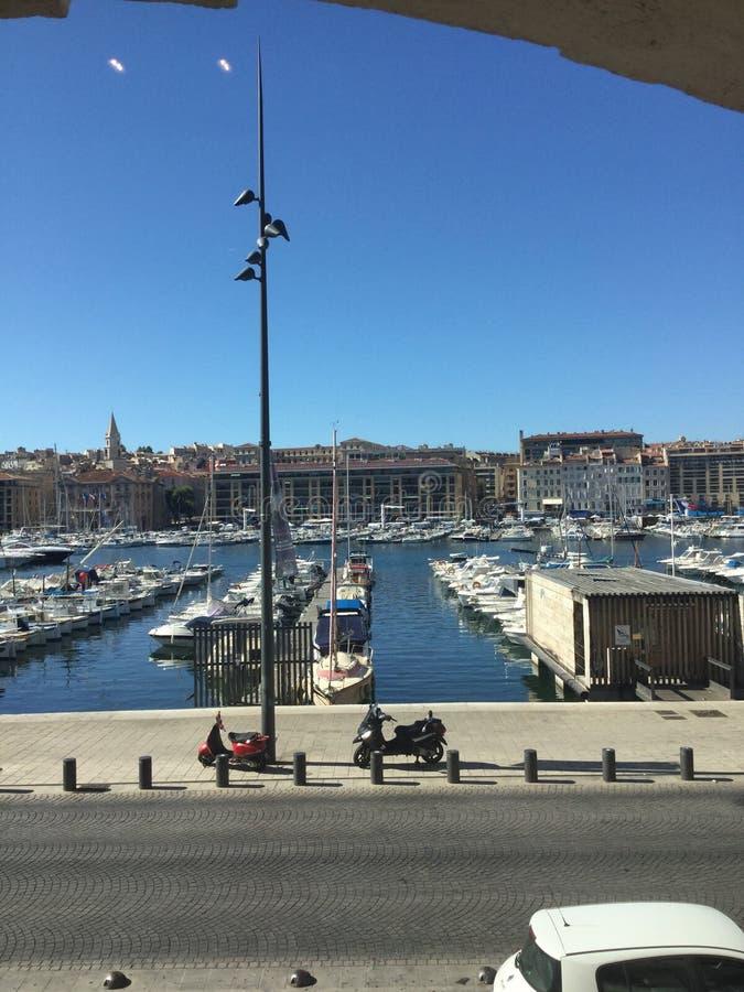 Alter Hafen Marseille stockbild
