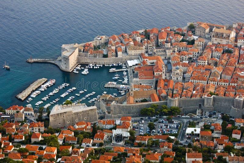 Alter Hafen von Dubrovnik in Kroatien lizenzfreie stockfotografie