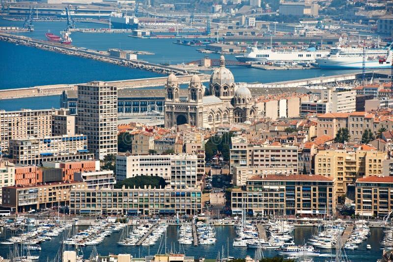 Alter Hafen von Marseille stockbild