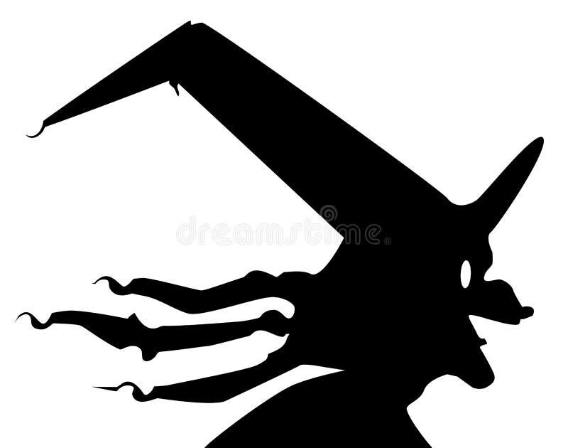 Alter Hexen-Kopf lizenzfreie abbildung