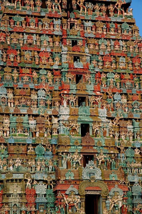 Alter hinduistischer Tempel in Indien stockbilder