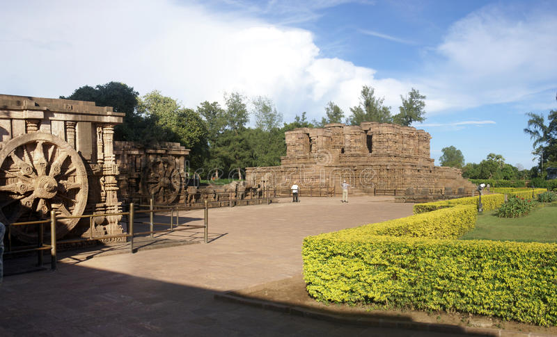 Alter hinduistischer Tempel konzipiert als Chariot lizenzfreie stockbilder