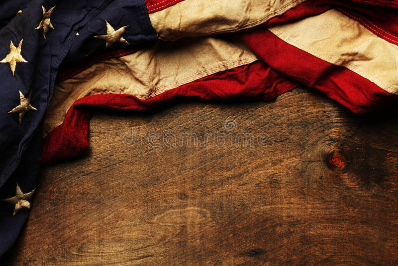 Alter Hintergrund der amerikanischen Flagge stockbilder
