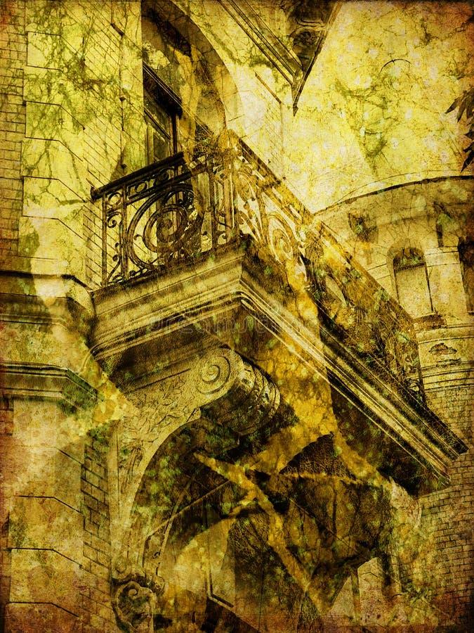 Alter Hintergrund der Kunst Stadt vektor abbildung