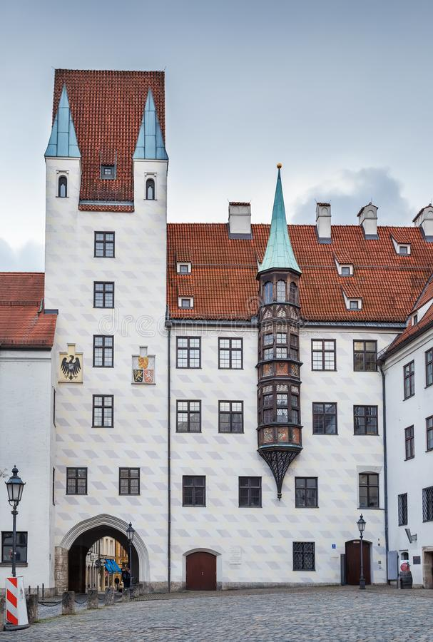 Alter Hof, Munich, Germany. Alter Hof Old Court is the former imperial residence of Louis IV, Holy Roman Emperor, Munish, Germany royalty free stock photo