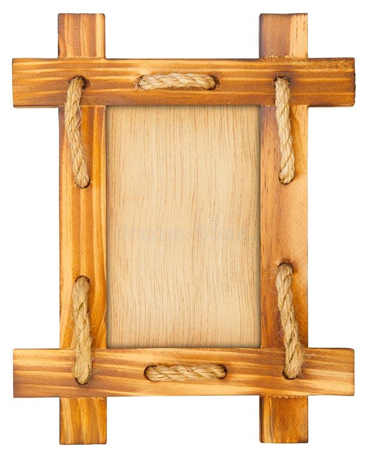 Alter Holzrahmen mit Seil stockbild. Bild von abbildung - 32797257