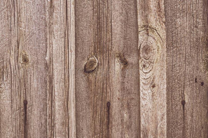 Alter Holzzaun Braune Bretter Eichentisch, Holzfläche Abstraktes Muster, Texturhintergrund Streifen der Leisten parallel stockfotos