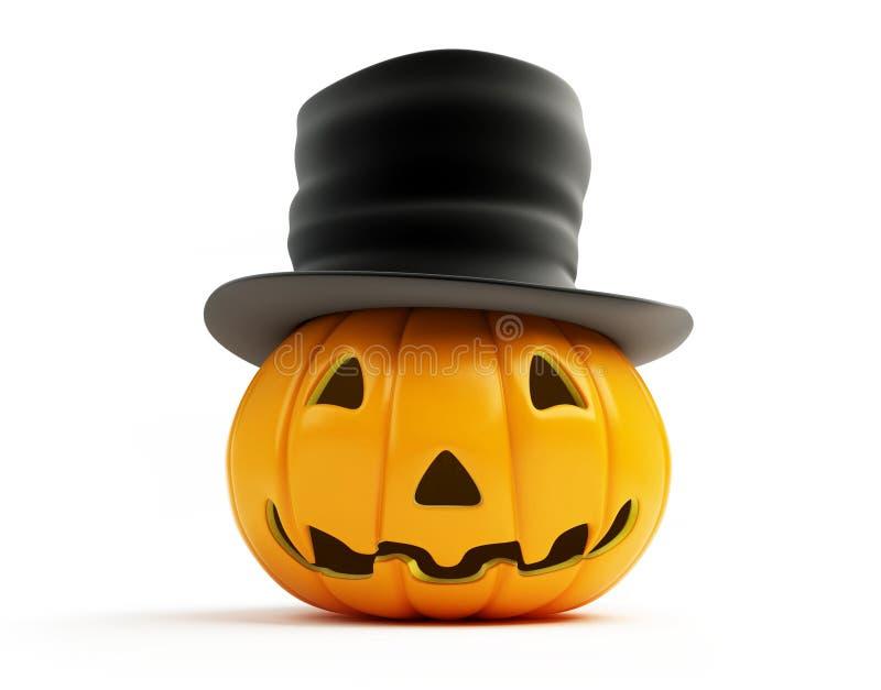 Alter Hut des Halloween-Kürbises stock abbildung