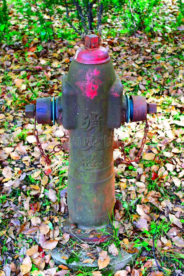 Alter Hydrant in Osaka Japan lizenzfreie stockfotos