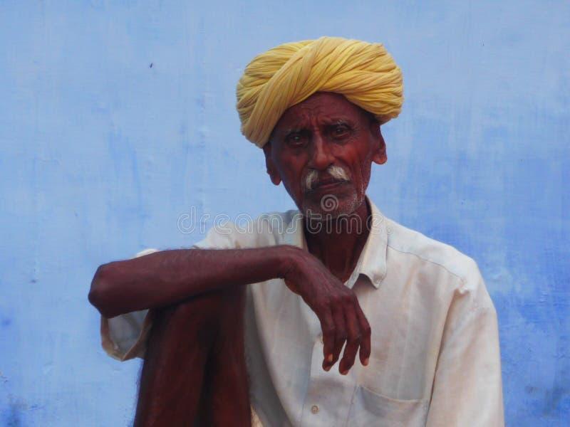 Alter indischer Mann stockbild