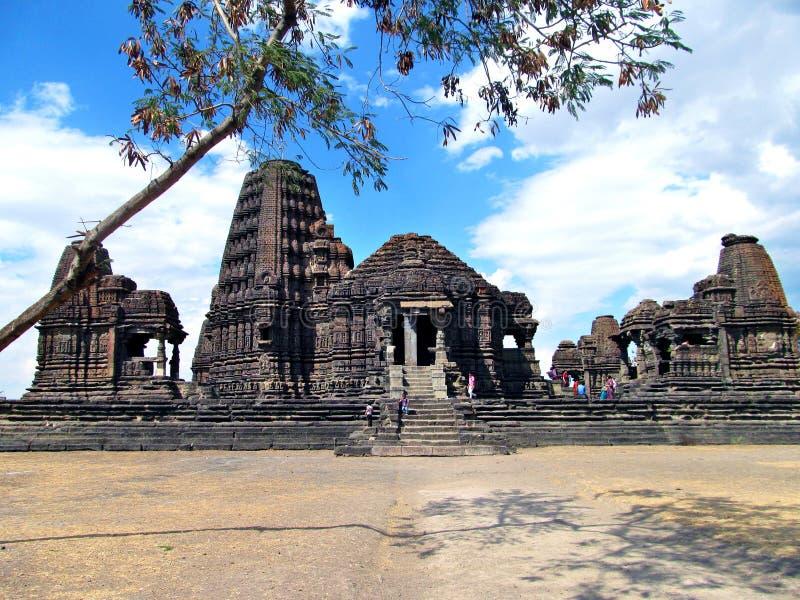 Alter indischer Tempel stockbild