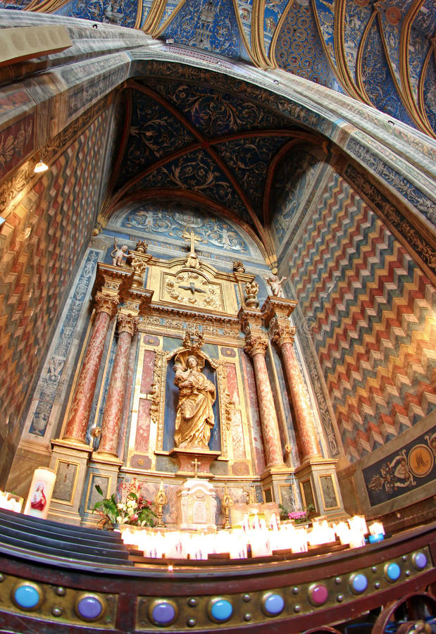 Download Alter Inside The Great Cathedral In Albi France Stock Image - Image: 17833115