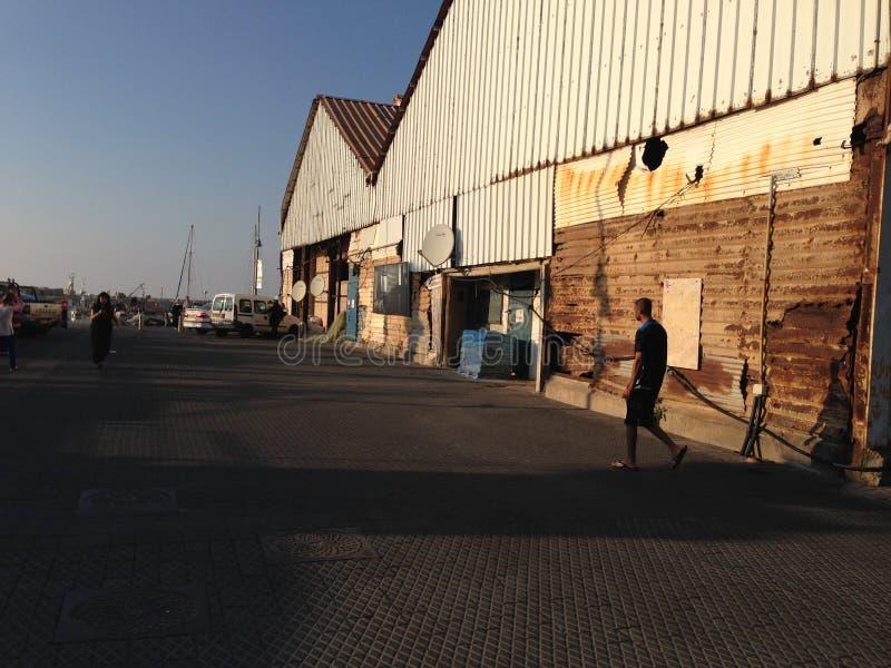 Alter Jaffa-Hafen stockbilder