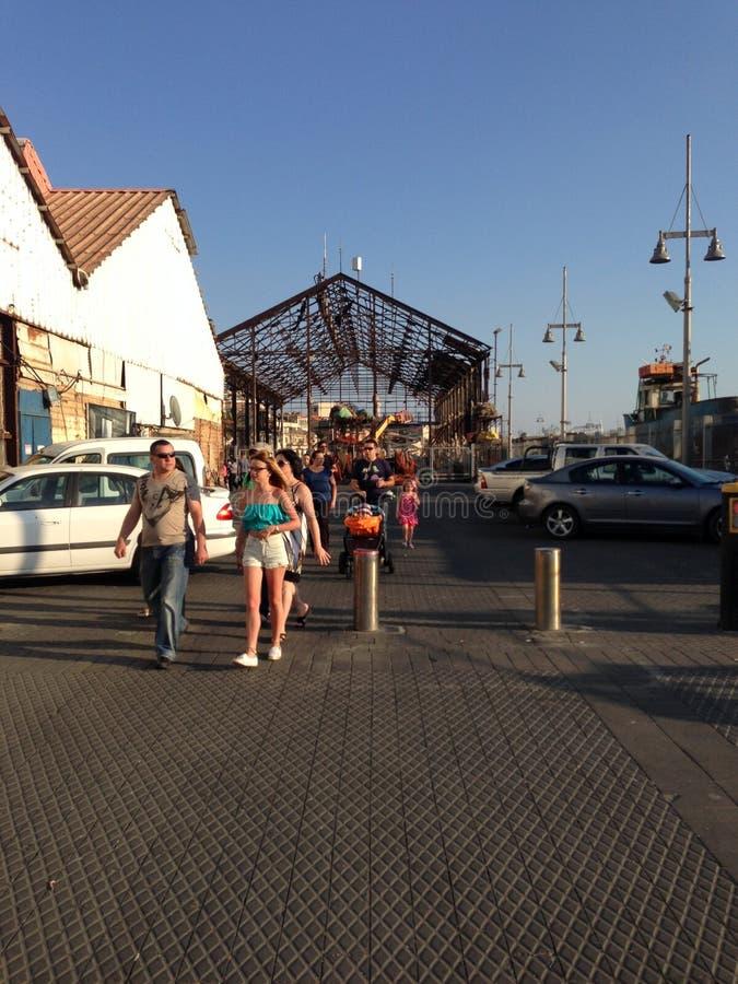 Alter Jaffa-Hafen lizenzfreie stockbilder