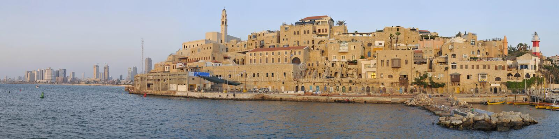 Alter Jaffa-Kanal lizenzfreie stockbilder