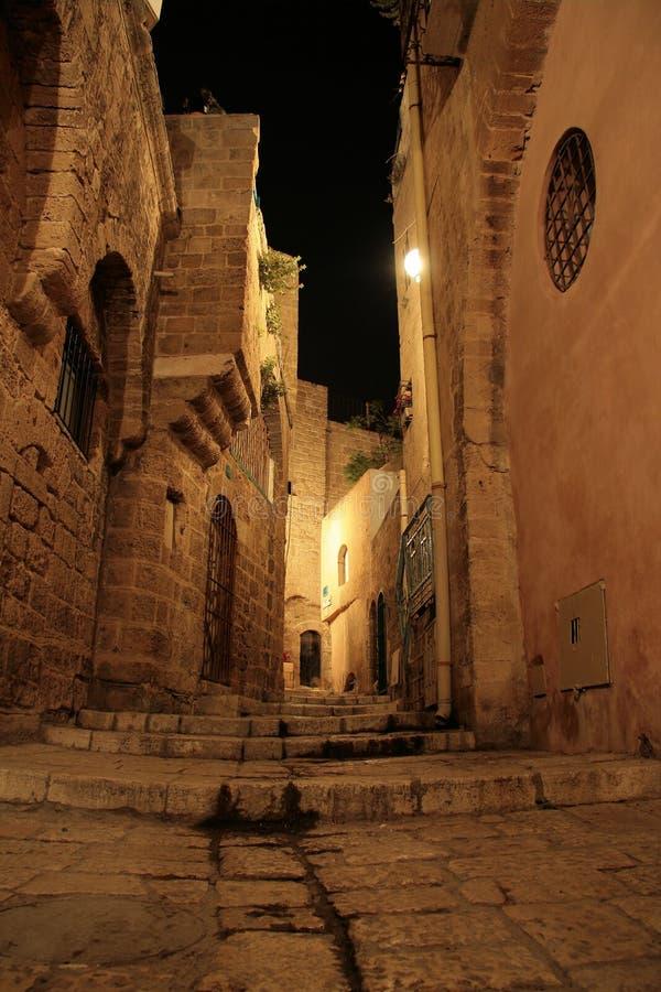 Alter Jaffa nachts stockbild