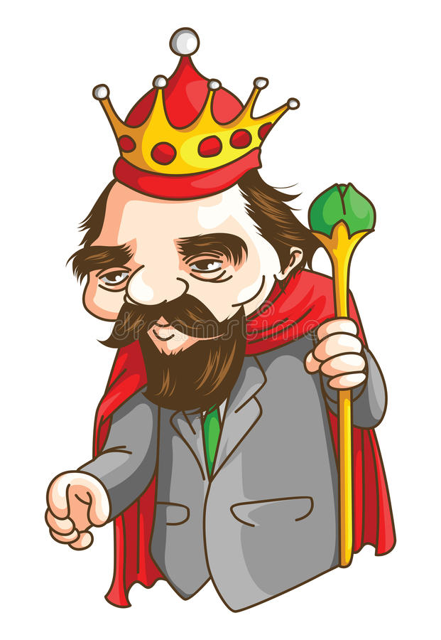 Alter König lizenzfreie abbildung
