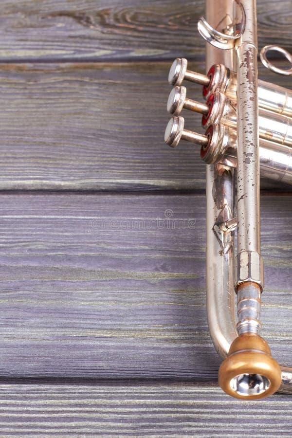Alter klassischer Trompeten- und Kopienraum lizenzfreie stockfotos