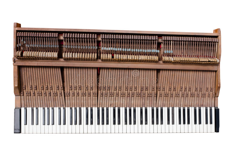 Alter Klaviermechaniker stockfoto