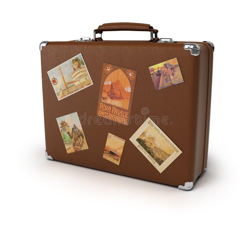 Alter Koffer lizenzfreie abbildung
