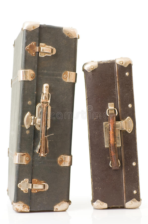 Alter Koffer zwei lizenzfreie stockfotos