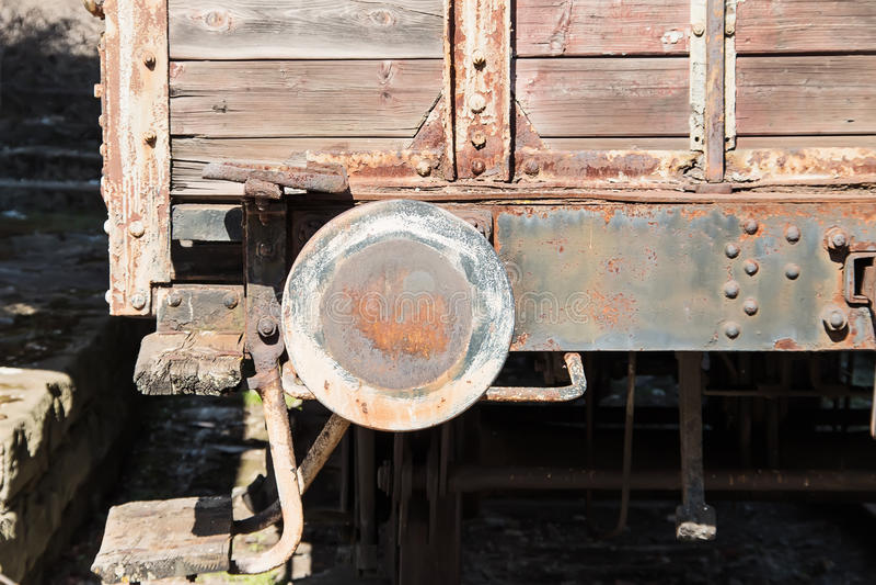 Alter Lastwagenpuffer stockbild