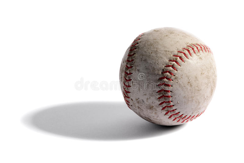 Alter lederner Baseball lizenzfreies stockfoto