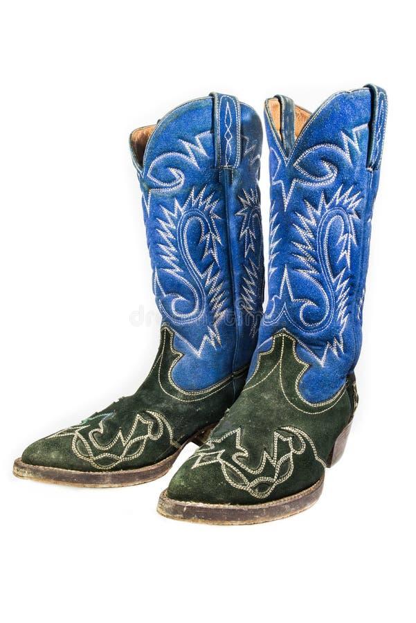 Alter lederner Cowboy Boots stockfotografie