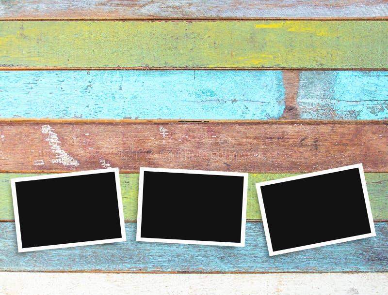 Alter Leerer Fotoschwarzweiss-rahmen Auf Schreibtisch Stockfoto ...