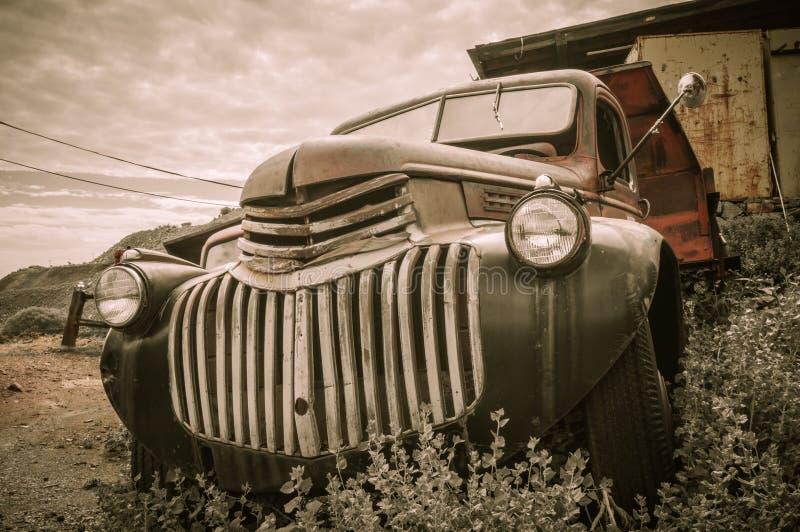 Alter LKW Jerome Arizona Ghost Town lizenzfreie stockfotografie