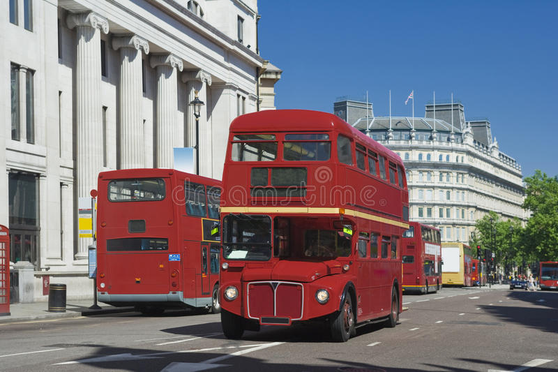 Alter London-Bus lizenzfreie stockfotografie
