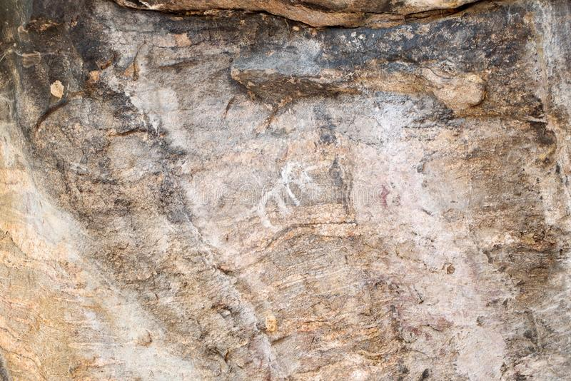 Alter Malereielefant auf Stein an OP Nationalpark Luang, Chiang Mai, Thailand stockfotografie