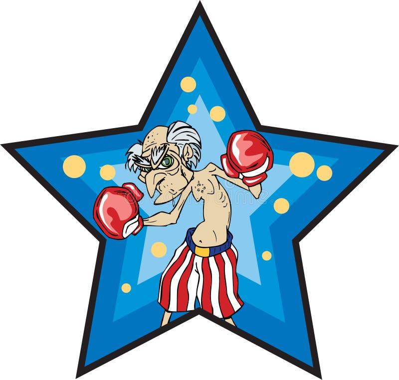 Alter Mann-Boxer lizenzfreie abbildung