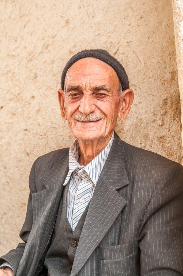Alter Mann vom Iran stockfotografie