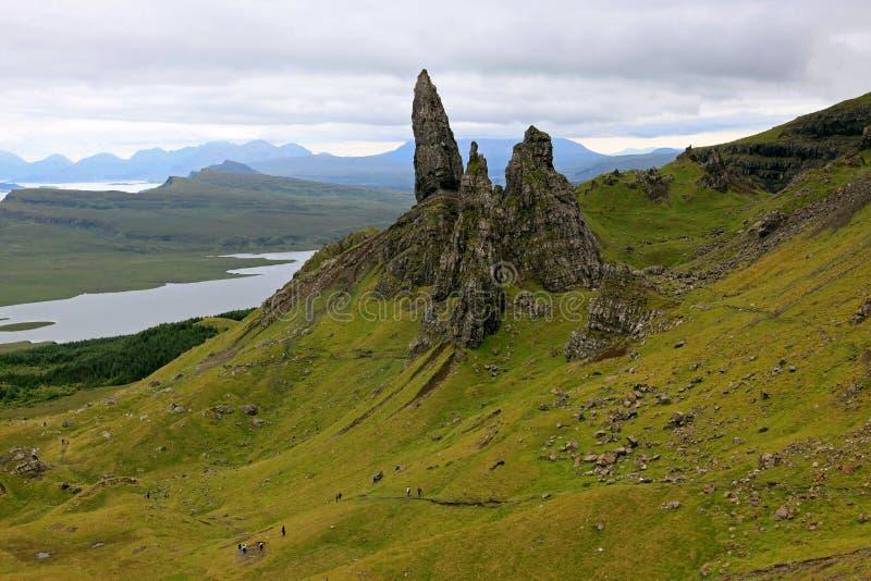 Alter Mann von Storr in Schottland stockbilder
