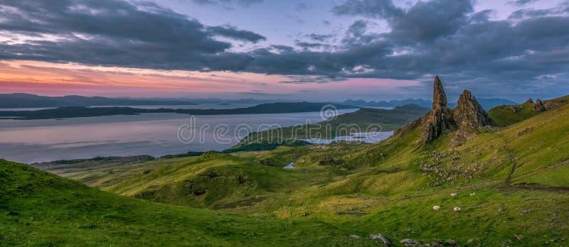 Alter Mann von Storr, Trotternish-Halbinsel, Insel von Skye, Scotla stockfotos