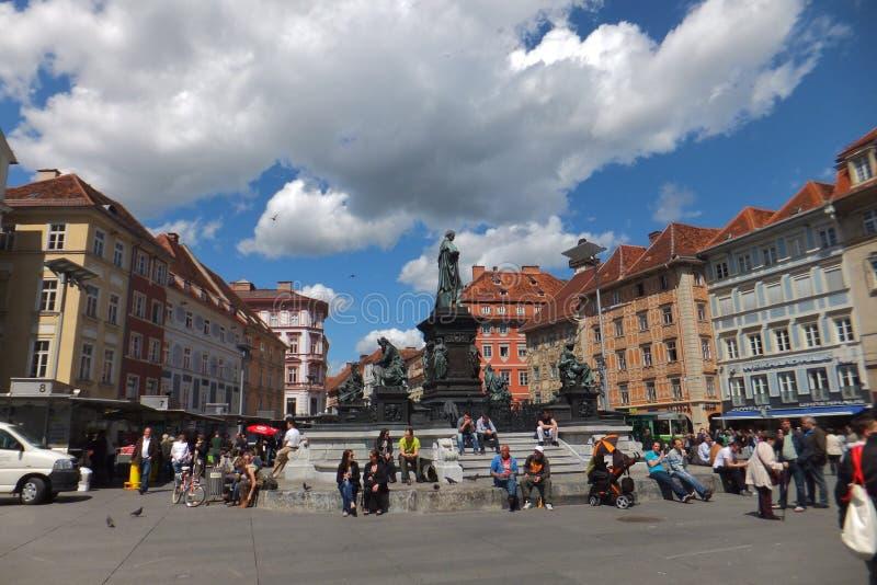 Alter Marktplatz, Graz, Österreich stockfoto