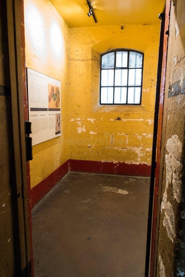 Alter Melbourne-Gaol - Ned Kelly-Zelle stockbild