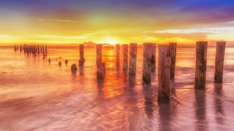 Alter Neapel-Pier, Florida USA lizenzfreies stockfoto