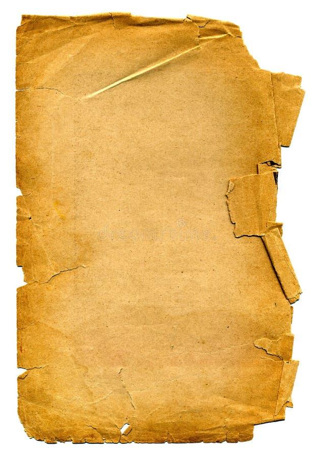 Alter Papiergrunge Hintergrund stockbilder