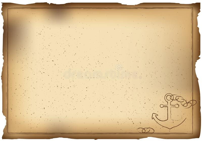 Alter Papierhintergrund mit Anker stock abbildung